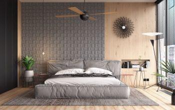 habitacion pintada de gris